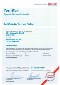 bosch-rexroth Zertifikat